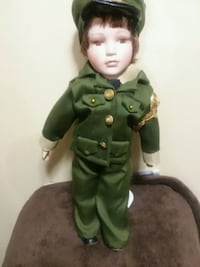 40 year old military  porcelain  doll Waterloo, 50703