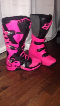 Brand new fox boots pink and black racing motorcycle size 11 Brampton, L6V