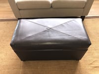Brown leather ottoman with storage Plymouth, 55446