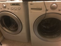 White front-load clothes washer and dryer combo Salt Lake City, 84106