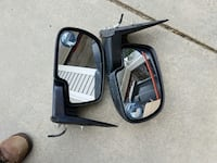 pair of black plastic side mirrors