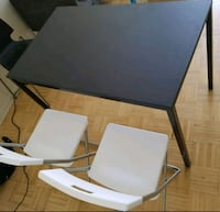 IKEA dinning table & 2chairs*less than 1month used Toronto, M4Y 1R5