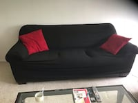 Black fabric sofa with Pillows ( if you want them) Alexandria, 22304