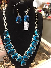 blue and silver beaded necklace Mississauga, L4W 1C9