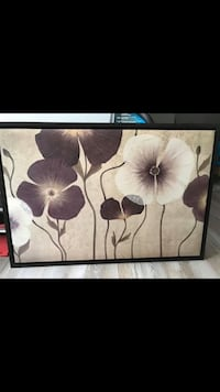 black and white floral painting Gatineau, J9A 0C6