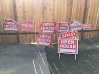 Open house signs for real estate  Temecula, 92592