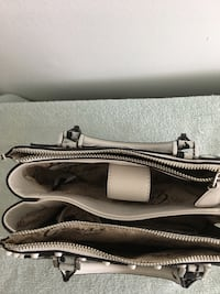 gray and white leather tote bag Burnaby, V5E 1J7