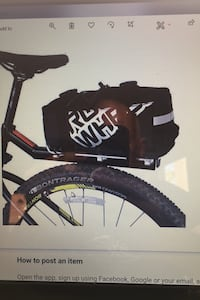 Bike seat rack and storage bag