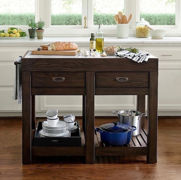Williams Sonoma kitchen island, vanity table. West elm. Pottery barn a7eff7aa-d5c9-4513-aae3-6be1b2502736