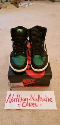 green-and-black Nike Air Force 1 shoes Frederick, 21704