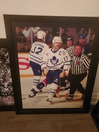 Wendel Clark Autographed picture