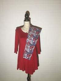 NEW STAR LEGGINGS AND RED TUNIC DRESS