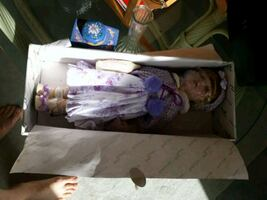Large collectible ceramic doll