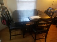Premium Bar Style Dining Table Silver Spring
