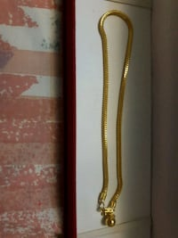 real gold anklet  Richmond, V6X 1M4
