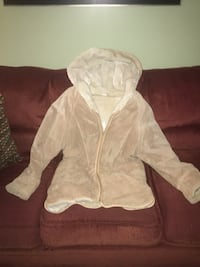 White and brown zip-up hoodie Wilmington, 19808