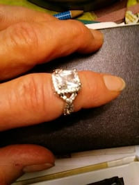White sapphire, 925sterling silver size7 Columbus, 43223