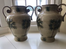 Vases - Palm tree design. I have matching dishes as well