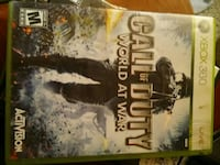 Xbox 360 Call of Duty World At War game case
