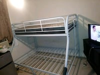 white metal bunk bed frame Boston, 02126