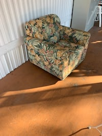 Brown and green floral sofa Largo, 33771