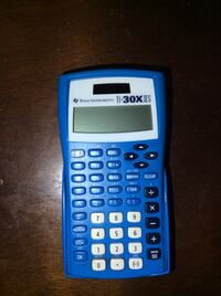 blue Texas Instruments scientific calculator