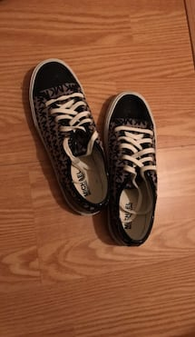 Pair of black-and-white vans sneakers