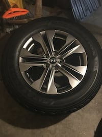 4 tires and rims for Hyundai sports original rims tires size  [PHONE NUMBER HIDDEN]  to 2017 fit Dot 4117 Brampton, L6R 3M6