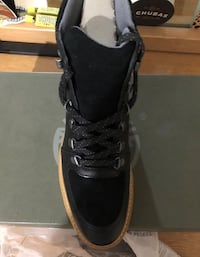 unpaired black and gray high top sneaker River Hills, 53217