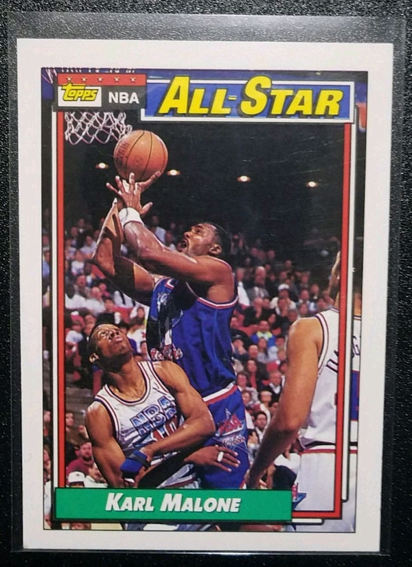 100% authentic 7b30d f136c Used 1992 KARL MALONE #123 TOPPS NBA ALL-STAR Card for sale ...