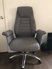 Grey upholstered desk chair- new Alexandria, 22314