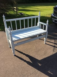 Baby blue head board bench  null, N1A