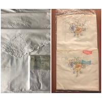 3 sets of embroidered pillow cases and more Markham, L6E 1E7