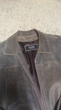 Men's soft brushed leather coat