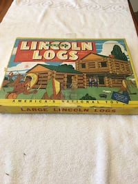 Lincoln Logs large vintage game from the 40's. Great price