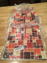 5x Brown 3D mosaic wall stickers ( new) Surrey, V3S 4P2