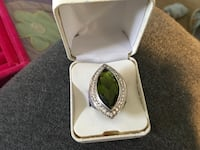 925 large marquise diopside and topaz ring Glen Burnie, 21061