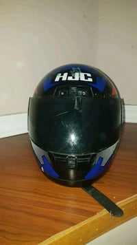 black and blue full-face helmet Vancouver, V5R 4B3