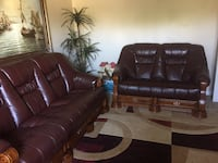 Leather couch set (Italy) Sacramento, 95842