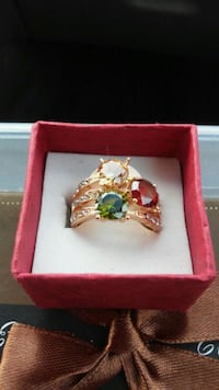 New gold plated ring size 6 & 8