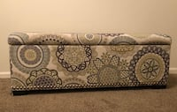 Patterned storage ottoman bench trunk