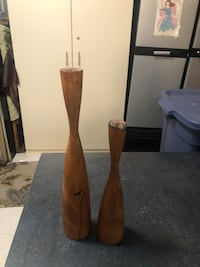 Antique Wooden Candle Sticks Denver, 80224