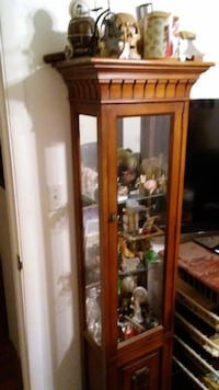 """Curial Cabinet  66"""" tall x 12""""depth x 14"""" wide. Priced to sell $50.00 De Soto"""