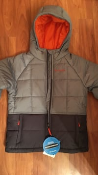 Gray and black zip-up bubble hoodie Wasilla, 99654