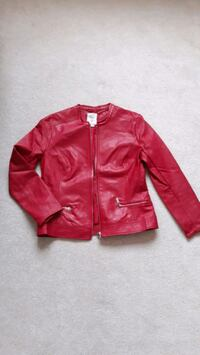 GUESS Red Leather Jacket Surrey, V6G