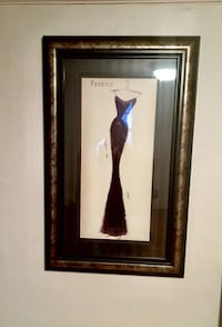 Large Framed Dress Silhouette Picture Herndon, 20171