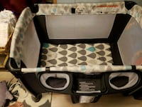 baby's black and white travel cot Wesley Chapel