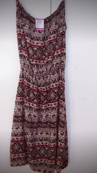 red and gray tribal maxi dress Surrey, V3R 4B3