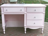 white wooden single-pedestal desk Buena Park, 90621