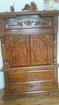 brown wooden cabinet with drawer Laval, H7M 3C2